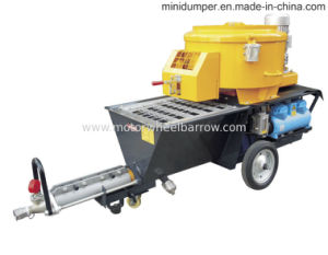 Screw Pump Plastering Machine with Mixer pictures & photos