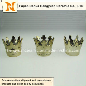 Hot Sale, Small Creative Crown Shape Ceramic Candle Holders (home decoration) pictures & photos