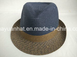 Mixed Color Paper Braid Sewn Braid Fedora Best Seller Best Price Straw Hat pictures & photos
