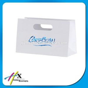 Manufacture Custom Kraft Paper Handle Bag with Logo pictures & photos
