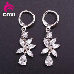 Gemstone Hoop Earring Cubic Zirconia Jewelry pictures & photos