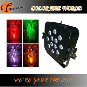 Disco Stage Lighting Battery Powered Wireless LED Flat PAR pictures & photos