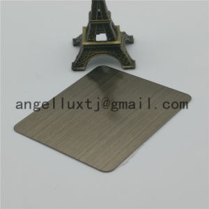 Champagne Color Stainless Steel Brush Sheet Hotel KTV Decorative Stainless Steel Plate pictures & photos