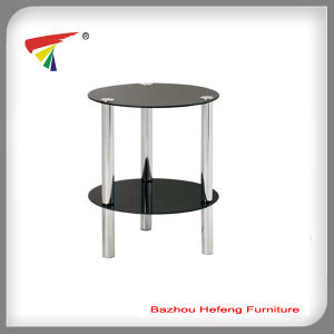 New Hot Simple Cheap Glass Corner Table (C004) pictures & photos