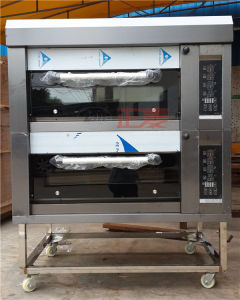 2 Doors and 4 Trays Electric Luxurious Deck Oven (ZMC-204D) pictures & photos