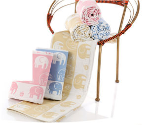 """100% Cotton Muslin Wrap Blanket 47X47""""Baby Muslin Swaddle pictures & photos"""