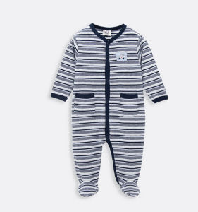 Cheap Customize Unisex Lovely Soft Cotton Comfortable Striped Baby Clothes pictures & photos