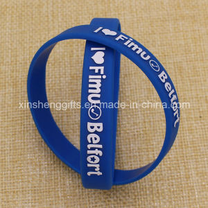 Wholesale Bulk Cheap Custom Embossed Silicon Wristband pictures & photos