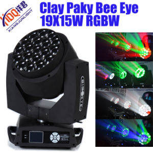 DJ Bar Lighting Rotation 19X15W LED Bee Eyes Moving Head Light Stage Light for Professional Stage Even Show pictures & photos