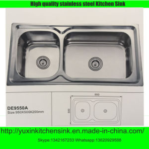 One Piece Forming Stainless Steel Kitchen Sink (DE9550A)