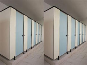 Fumeihua Compact Laminate Cubicle Toilet Partition Hardware pictures & photos