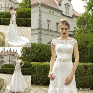 Mermaid Bridal Gowns Sheer Lace 2016 Wedding Dresses Z8015 pictures & photos