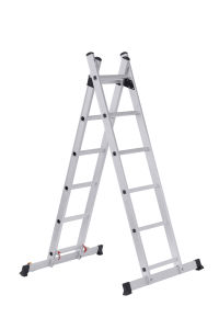 High Quality Extendable Scaffolding Ladder with 12 Steps pictures & photos