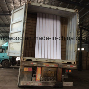 Titanium White Melamine MDF with Slot pictures & photos