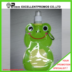 Customized Foldable Plastic Water Bottle with Stainless Steel Ring (EP-B125515) pictures & photos