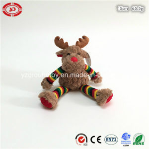 Xmas Moose Soft Fluffy Plush Toy Knitted Arms and Legs pictures & photos