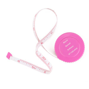 Customized Round Sewing Pink Mini Fiber Glass Retractable Measuring Tapes pictures & photos