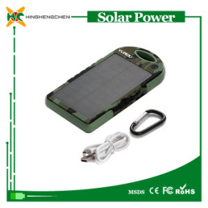 5000mAh Portable Solar Charger Power Bank with RoHS pictures & photos