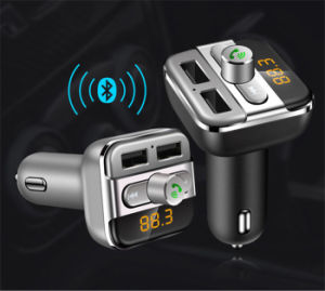 FM Transmitter Hands-Free Calls Cigarette Lighter Dual USB Car Charger Car Bluetooth MP3 Player pictures & photos