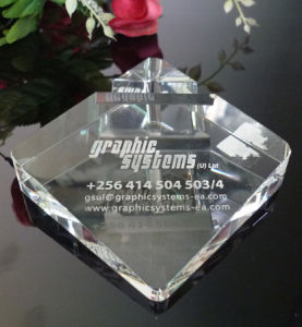 Glass Crystal Name Card Holder with Logo Office Decoration pictures & photos