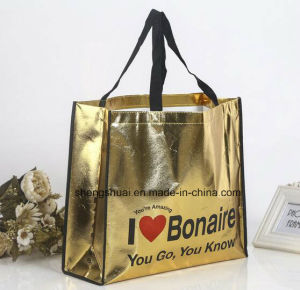 Fashion Laser Laminated PP Woven Tote Bag with Custom Design