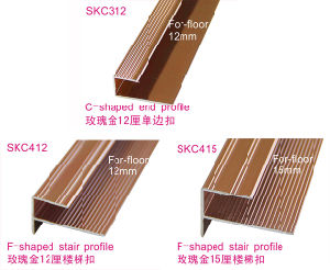 Ck Luxious Rose Golden Aluminum Flooring Reducer Profiles pictures & photos