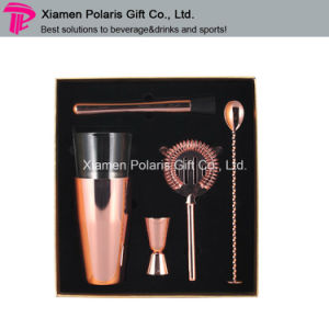 High End Bar Gift Popular Bright Copper Plated Bar Set pictures & photos