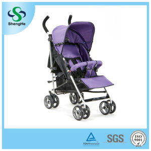 Foldable Baby Pram with 360 Rotating Wheels Adjustable Footrest (SH-B13)
