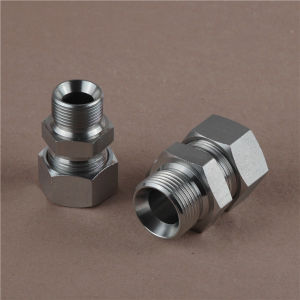 Bsp Thread Adaptor with Cutting Ring and Nut Hydraulic Adaptor pictures & photos