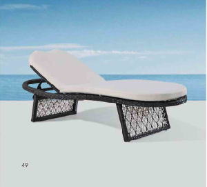 Outdoor Furniture Leisure Rattan Lying Bed Pool Lounge Chair Bed pictures & photos