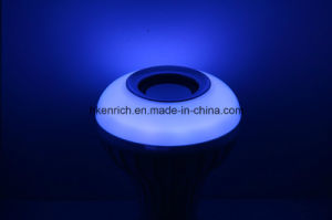 Indoor Light New Wireless Music Speaker with Bluetooth LED Bulb Work Night Table pictures & photos