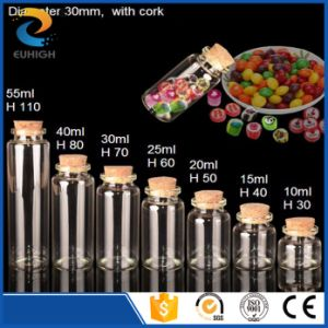 Wholesale Candy Promotion Glass Storage Jar with Cork Lid
