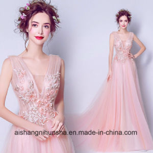 Sexy Lace Flower Bridal Dress Formal Wedding Dress pictures & photos