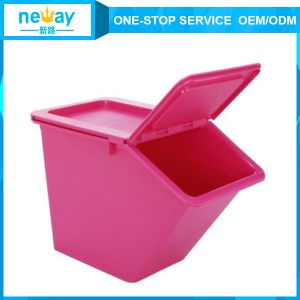 50L Colorful Household Plastic Storage Box with Lid Wheel pictures & photos