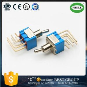 Miniature Toggle Switch with Metal Flat Handle pictures & photos