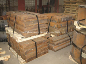 Jaw Plate Made of High Manganese Steel Castings pictures & photos