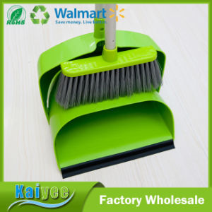 High Quality Green Removable Plastic Windproof Bucket and Broom pictures & photos