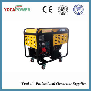 9kVA Electric Start Open Power Portable Diesel Generator Set pictures & photos