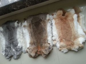 Thick Fur Soft Leather Rabbit Fur Skin Plate pictures & photos