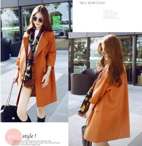 OEM Custom Elegant Korean Women Trench Jacket pictures & photos