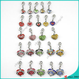 Wholesale Crystal Heart Pendant Charms (MPE)