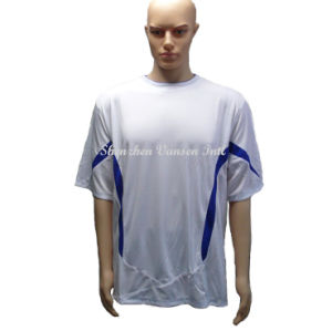 Simple Custom Dry-Fit Sports T Shirt in White pictures & photos