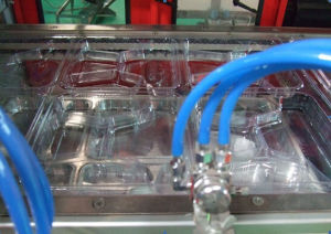 Lunch Box vacuum Forming Machine/Plastic Food Container Machine pictures & photos