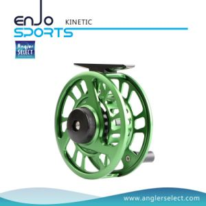 Green CNC Fly Fishing Reel Fishing Tackle with SGS (KINETIC 5-6) pictures & photos