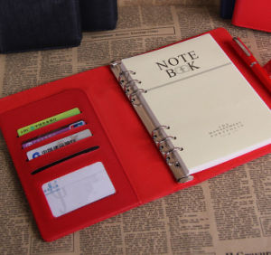 Red Notebook with Bank Card Pocket pictures & photos