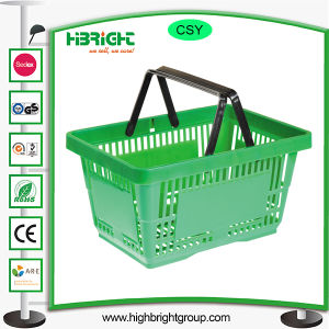 Plastic Supermarket Shopping Baskets with Handle pictures & photos