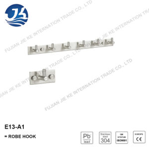 304 Stainless Steel Straight Clothes Robe Hook (E13-A1)