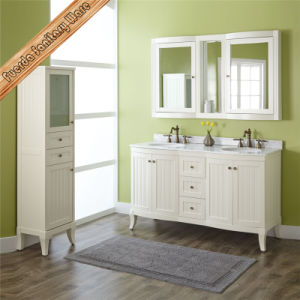 Fed-1828 60 Inch Top Quality White Finishing Double Sinks Bathroom Vanities pictures & photos