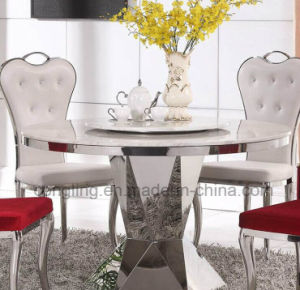 Modern Designs Top White Marble Dining Table for Sale