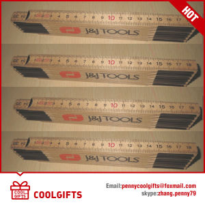 Stationery 200cm 10 Fold Wooden Foldable Ruler with Customized Logo pictures & photos